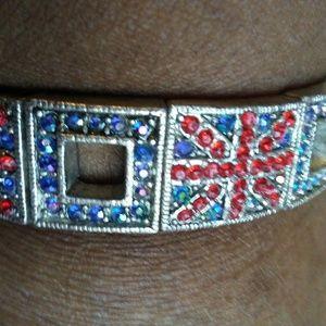 British Flag Bracelet, Stretchy